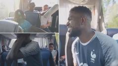 El baile de Umtiti que 'reventó' en el autobús de Francia