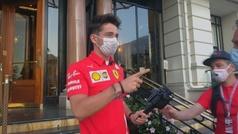 Leclerc rueda un corto en Mónaco