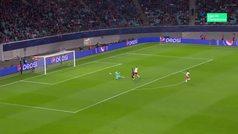Gol de Vinícius (0-2) en el RB Leipzig 2-2 Benfica