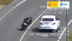 Así caza la DGT las infracciones de motoristas desde el aire
