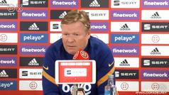 """Koeman: """"Ya antes del partido sé qué pasará si ganamos y qué pasará si perdemos"""""""