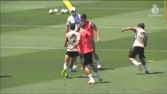 Vuelve a los entrenamientos Luka Jovic tras haber dado negativo en tres controles