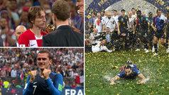 Las lágrimas de Griezmann, la tristeza de Modric y un festejo pasado por agua