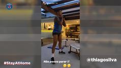 Los jugadores del PSG entrenan...en sus casas