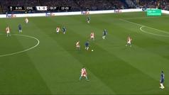Jugadón de Hazard, error de Pedro sin portero... y autogol del Slavia