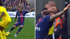 El golazo de Dani Alves ante el Nantes: ¡qué zapatazo!