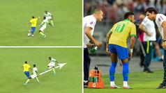 Neymar se marca un rabona de lujo... y se retira lesionado a los 11 minutos