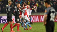 Europa League (octavos, vuelta): Resumen y goles del Slavia de Praga 4-3 Sevilla