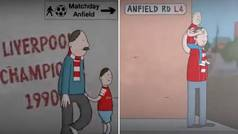 Precioso vídeo de los 30 años sin ganar la Premier del Liverpool: ¡del abuelo al nieto!