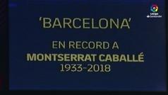 El Camp Nou despidió con honores a Montserrat Caballé