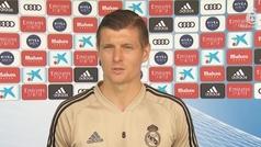 """Kroos: """"Ganará el equipo que mejor se adapte a jugar sin público"""""""