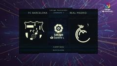 MX: LaLiga (J7): Resumen y goles del Barcelona 1-3 Real Madrid