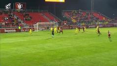 Gol de Merquelanz (p.) (2-1) en el Mirandés 4-2 Villarreal