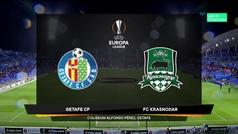 Europa League (Grupo C): Resumen y goles del Getafe 3-0 Krasnodar
