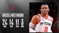 Russell Westbrook empieza a carburar en Houston: ¡Tercer triple-doble seguido!