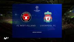 Champions League (Grupo D): Resumen y goles del Midtjylland 1-1 Liverpool