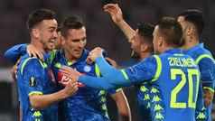 Europa League (octavos, ida): Resumen y goles del Nápoles 3-0