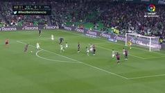 Gol de Guedes (0-2) en el Betis 1-2 Valencia