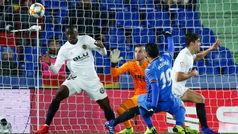 Copa del Rey (cuartos, ida): Resumen y gol del Getafe 1-0 Valencia