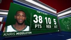 Khris Middleton, un jugador único en la historia de los playoffs