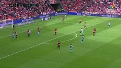 Gol de Álex Moreno (1-1) en el Athletic 3-2 Rayo