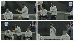 Henry dándolo todo en la banda, ¿cuál prefieres: el Henry entrenador o el que era jugador?