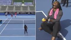 El mensaje de Serena Williams a los hombres que creen que podrían ganarle un punto