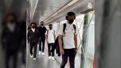 El Real Madrid entra al avión y tiene que cambiar de ruta por una avería.