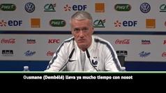 """El dardo de Deschamps a Dembélé: """"Conozco sus excusas cuando llega tarde"""""""