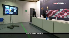 """La reacción de Zidane tras acabar la rueda de prensa: """"¡Qué pesados, macho!"""""""