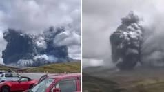 Entra en erupción el volcán Aso, en Japón