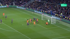 Gol de Tousard (2-1) en el Barcelona 5-1 Lyon