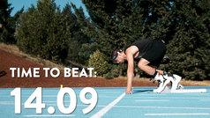 Para dejarse el tobillo en la pista: ¡bate el récord de los 100 metros lisos... con botas de esquí!