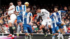 LaLiga (J24): Resumen del Valencia 0-0 Espanyol