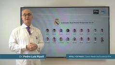 El Dr. Ripoll analiza las lesiones que han sufrido los jugadores del Real Madrid