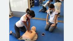 Sandra Sánchez aprende a salvar vidas.