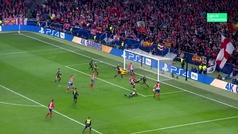Gol de Godín (2-0) en el Atlético 2-0 Juventus