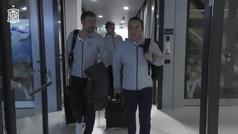 Así fue la llegada de la selección española a Zagreb