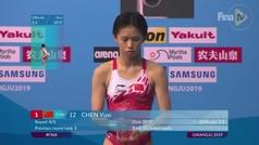 La china Chen Yuxi, oro mundial en plataforma de 10m? ¡con 13 años!
