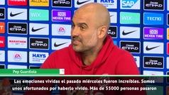 """Guardiola: """"En el futuro diremos con orgullo que vivimos ese partido dramático"""""""
