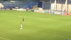 El gol de la Copa del Rey: Julen Castañeda del Racing de Santander marcó desde su propio campo