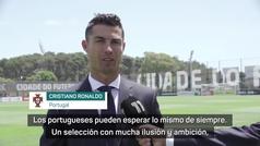 """Cristiano Ronaldo: """"Vamos con ilusión y ambición"""""""