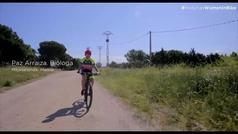 Paz Arraiza, la vida en la bicicleta