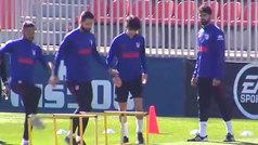 Joao Félix se une al grupo y Lemar se queda como única baja por lesión