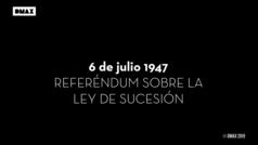 Primeras imágenes en color de los españoles votando durante la dictadura de Franco