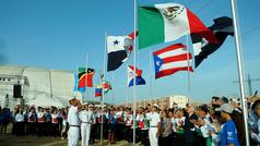La bandera de México ya ondea en Barranquilla