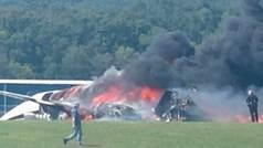 Se estrella e incendia el avión privado del mítico piloto Dale Earnhardt Jr.