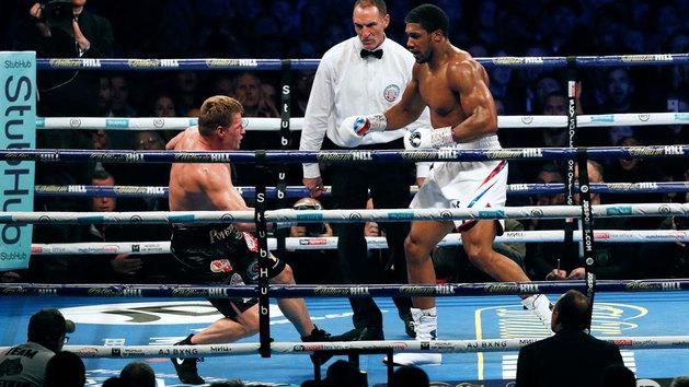 Así fue el KO de Joshua a Povetkin en el séptimo asalto