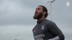 Sergio se entrena en solitario a dos días del Clásico