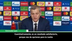 """Genesio: """"Es bueno no encajar contra el gran Barça, la eliminatoria está abierta"""""""